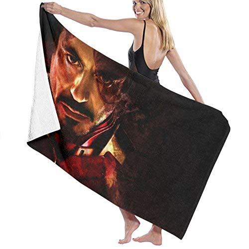 Custom made Toallas de baño Tony Stark Iron Man de microfibra, 70 x 140 cm, toalla de playa grande para deportes, accesorios de camping