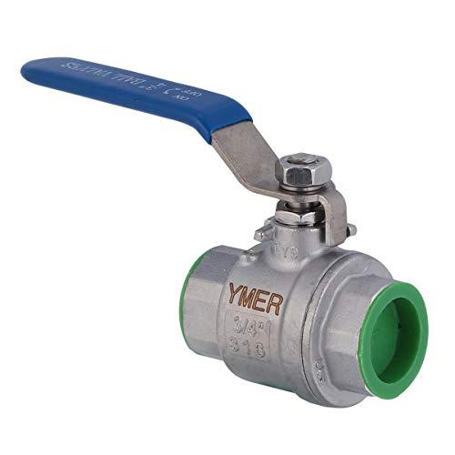 ULTECHNOVO Kugelhahn Wasser Absperrventil Edelstahl Gartenschlauchanschluss für Bewässerungswasseraufbereitung