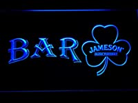 Jameson Shamrock Bar LED看板 ネオンサイン ライト 電飾 広告用標識 W60cm x H40cm ブルー