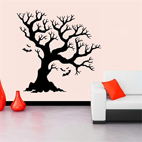 Halloween Wall Sticker Party Mural DIY Removable Tree Print Wall Decal for Household Room Living Room Bedroom Kids Room Background