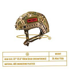 OneTigris Unisex's PJ Tactical airosft Helemt Helmet, Multicam, One Size #5