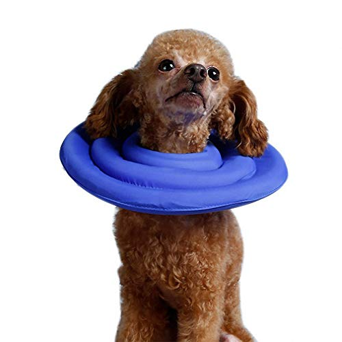 Hiuwa Pet Recovery E-Collar Soft Cat Dog Protective Inflatable Collars for for Small Medium Large Dogs Best Price Blue XXL