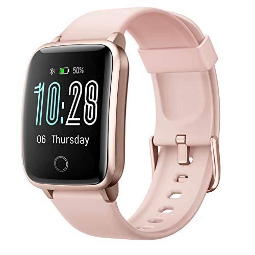 Jogfit Fitness Tracker con monitor de frecuencia cardíaca, impermeable, rastreador de actividad, reloj deportivo de salud con contador de calorías, seguimiento del sueño, podómetro de paso para hombres, mujeres y niños