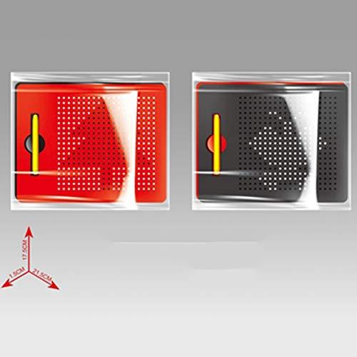 Sensitiveliu Juguetes de Dibujo educativos compactos para niños Tableta magnética Tablero de Dibujo 380 Bolas de Acero Bola de Juguete para niños