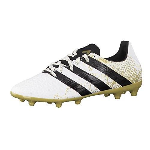 adidas Ace 16.3 FG, Botas de fútbol Hombre, Blanco (Ftwbla/Negbas/Dormet), 42