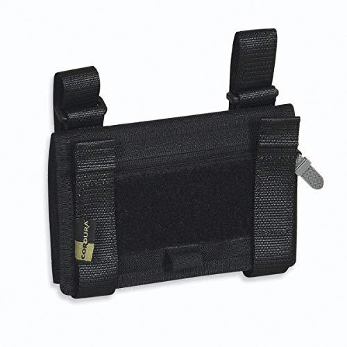 Tasmanian Tiger TT Wrist Office - Aufklappbare Falttasche für Armgelenk Unterarm Falt-Tasche mit Klarsichtfächern für Karten, Schwarz