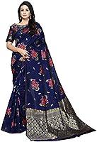 SORU FASHION Women's Banarasi Silk & Cotton Saree With Blouse Piece