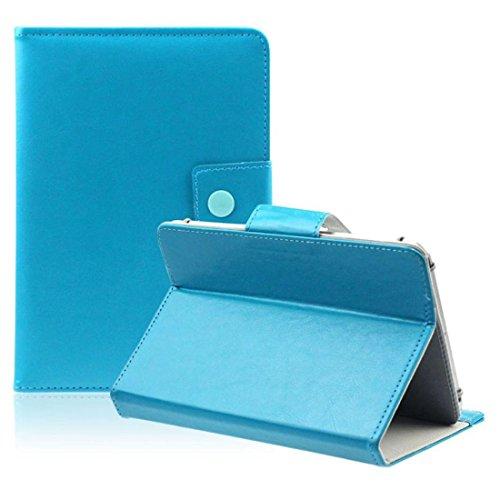 REFURBISHHOUSE 10 Pulgadas Funda Universal Tablet PC Cristal Cuero de la PU Soporte cascara (Azul)