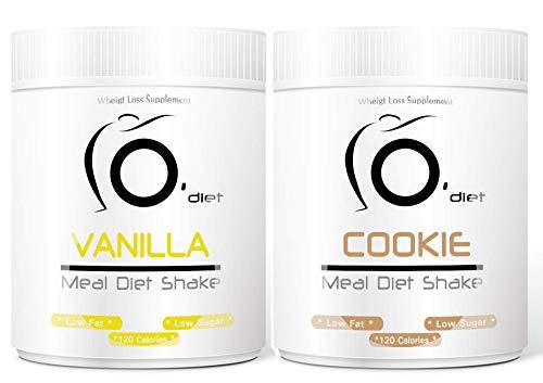 Shake Dietetico Proteico pasto sostitutivo Meal Diet Shake Line@Diet, ideali per chi è a DIETA e per SPORTIVI! Altissima solubilità (VANILLA + COOKIE)
