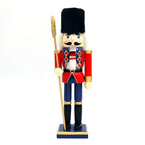 The Christmas Workshop 81570 notenkraker, 30 cm hoog, hout-soldate, notenkraker op standaard, meerkleurig