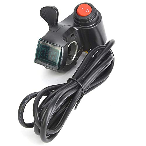VGEBY1 E-Bike Thumb Throttle Finger Accelerator Digital Battery Voltage Power Switch with LCD Display