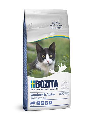 BOZITA Outdoor & Active Elch - Trockenfutter für erwachsene hauptsächlich draußen lebende Katzen, 2 kg