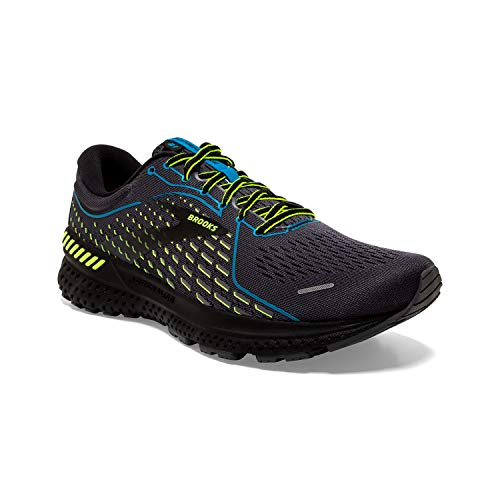 Brooks Men's Adrenaline GTS 21, Black/Nightlife, 11 Medium