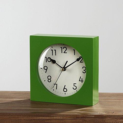 Horloge de Table Horloge minimaliste moderne salon chambre créative chambre à coucher calme chevet (vert) Pendules et horloges