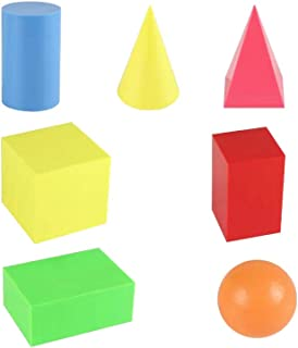 Large Geosolids Plastic Shapes,Three dimensional graphics mathematics teaching aids, 3D Shapes Miniature geometric model Set