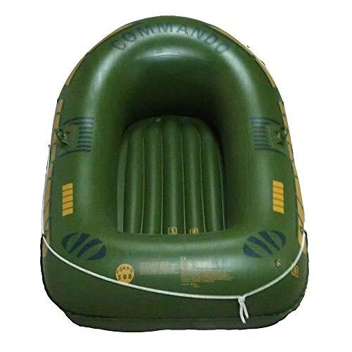 GUOE-YKGM Kayak Schlauchboot Faltkajak Outdoor Beiboot Komfortable Kajakfahren Freizeit Faltboot 1-2 Personen Schlauchboot Marine Sport Angeln Abenteuer Dicke PVC Kunststoff 190 * 142 * 30 cm Grün