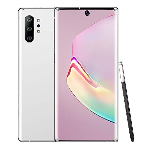 """Unlocked Smartphone, 6.8"""" Ultra HD Incell Curved Screen Phone, 2+16G MTK6580P Four Core Mobile Phone, Dual SIM Cell Phone Unlocked, Free 128G Memory Card for Android 9.1 System (White)"""
