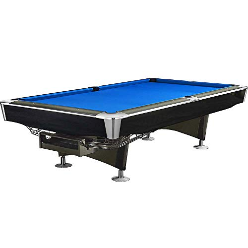 Feelcomfort Billardtisch Georgia 8ft (Blau) Pool Snooker Schieferplatten inklusive Zubehörset
