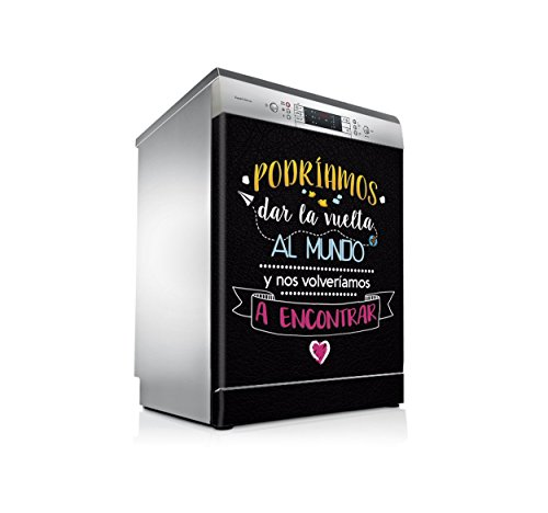 setecientosgramos Vinilo Lavavajillas | Stickers Dishwasher | Pegatina Lavavajillas | Mundo (Black)