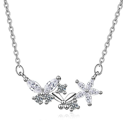 Collar de plata de la muchacha de la manera nueva de la joyería del collar de la joyería de cristal de la vendimia colgante collar