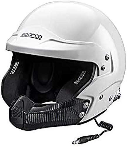 SPARCO S0033491S Casque Air Pro Kevlar Rj-5i / Fibre de Verre TG Fia. S Blanc