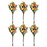 Amosfun 6 Pcs Oeufs De Pâques Décor Pâques Partie Fournitures pour Arrangement De Fleurs Bouquet Maison Pâques De Noël DIY Artisanat Décor
