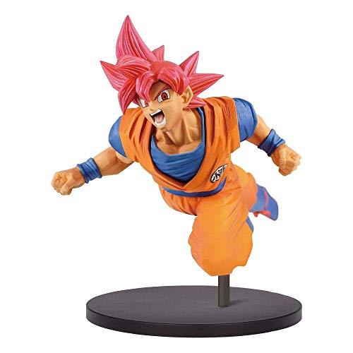 Banpresto dragon ball z – son goku fes!! vol9 – son goku super saiyan god, 16 cm, multicolore