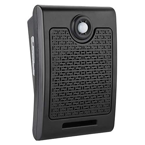 Sutinna Sensor de Movimiento, Inducción Corporal Indicación de Voz Recordatorio de Audio Recordatorio de Voz Activado Reproductor de múltiples Sonidos Grabados para Tienda Fábrica Supermercado(Negro)