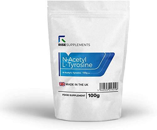 N-Acetyl-L-Tyrosin Pulver (NALT) [100 g] von Rise Supplements | Unterstützt die Dopaminproduktion im Gehirn | STIMMUNG & ENERGIE | Für eine optimale kognitive Funktion | Verpackt in GB