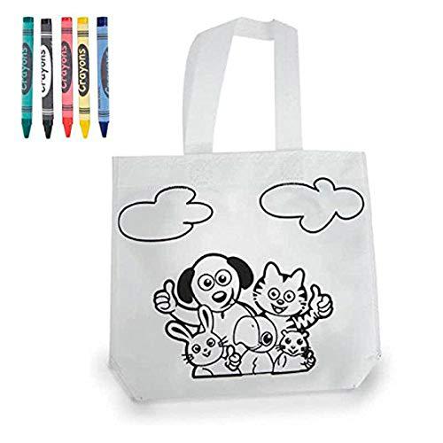 DISOK - Bolsa para Colorear - Bolsa Infantil para Pintar con