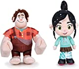Famosa Pack 2 Peluches Vanellope Y ROMPE Ralph Internet 45CM