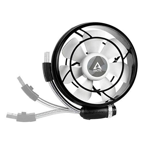 ARCTIC Summair Light Mobiler USB Ventilator für den Schreibtisch, Tischventilator/Standventilator, geräuscharmes Betriebsgeräusch, 900-2100 U/min, schwarz