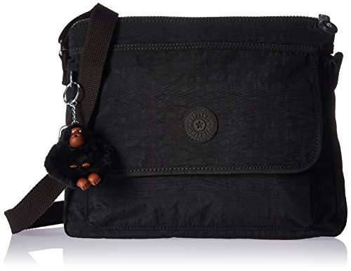 Kipling Women's Aisling Tonal Crossbody Bag, black t, One Size