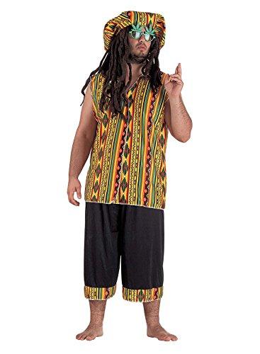 chiber Disfraces Disfraz de Jamaicano para Adulto. Talla Única (M/L)