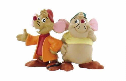 Bullyland 12502 - Spielfigur, Walt Disney Cinderella, Karlie und Jaques, ca. 4 cm groß, liebevoll handbemalte Figur, PVC-frei, tolles Geschenk für Jungen und Mädchen zum fantasievollen Spielen
