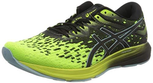 Asics Dynaflyte 4, Running Shoe Hombre, Black/Safety Yellow, 44 EU
