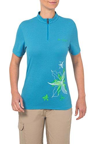 VAUDE Damen Trikot Women's Sentiero Shirt, Teal Blue, 42, 05582