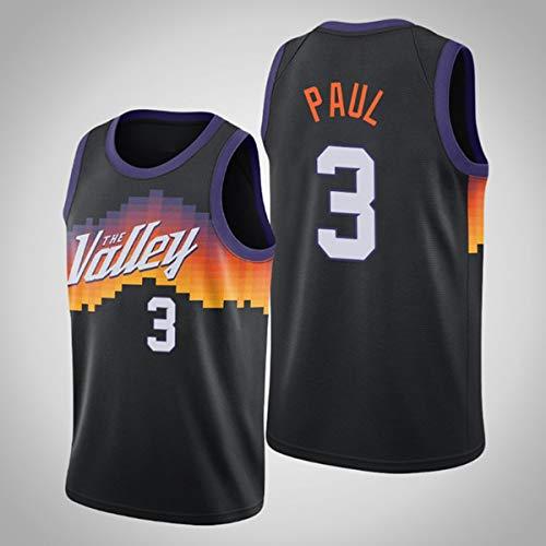 ATI-HSKJ Chris Paul 3# Maglie, Phoenix Suns Solita da Uomo Vestiti da Basket Cool Traspirante Tessuto Swingman Semplificatore Senza Maniche Top Abbigliamento,S(165~170CM/50~65KG)