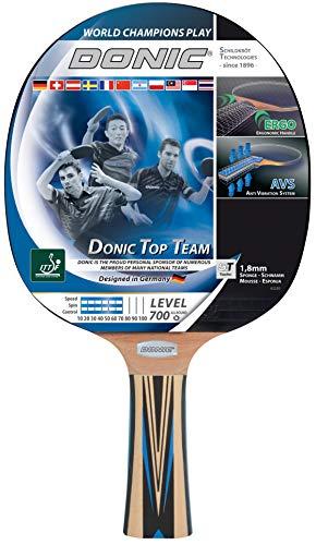 Donic-Schildkröt Raqueta de Tenis de Mesa Top Team 700, Mango AVS, Esponja de 1,8 mm, Almohadilla Donic 3 Estrellas-ITTF, 754197