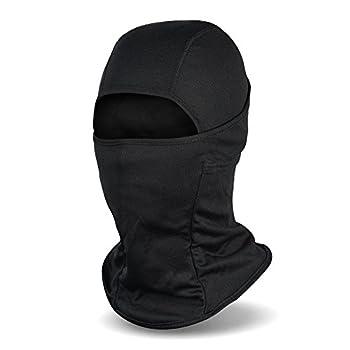 Balaclava Face Mask UV Protection Ski Sun Hood Tactical Masks for Men Women Black