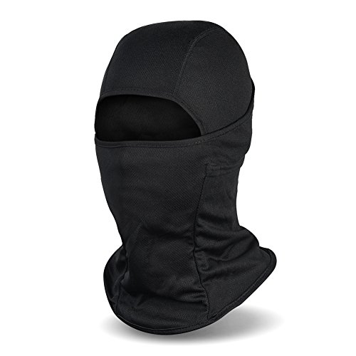 Balaclava Face Mask UV Protection Ski Sun Hood Tactical Masks for Men Women Black