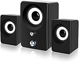 Marboo Computer Speakers with Subwoofer,2.1 PC Speakers for Desktop,Laptop,Monitor,Tablets. USB-Powered and 3.5mm-Aux Connection with LED Light. 2.1 Stereo Sound Great for Music,Movies,Gaming