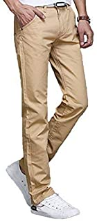 [セカンドルーツ] ライトウエイト チノパンツ スリム ストレート フロント YKK ジップ カラー パンツ メンズ