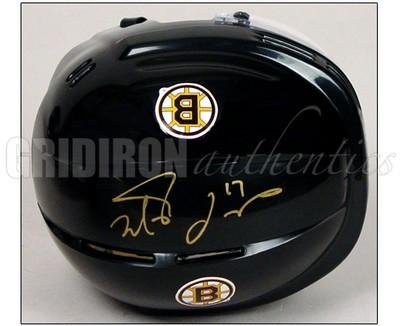 Milan Lucic Autographed Boston Bruins Black Home Mini-Helmet - Autographed NHL Helmets and Masks
