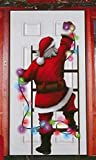 Momentum Brands Christmas Window Door Cover Decorations Ginger Bread House - Santa - Gift Bow 30x60 Inches (Santa Claus)