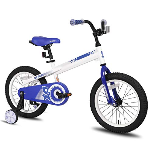 JOYSTAR 14 Inch Kids Bike with Training Wheels for 3 4 5 Years Old Boys, Toddler Cycle for Early Rider, Child Pedal Bike, White