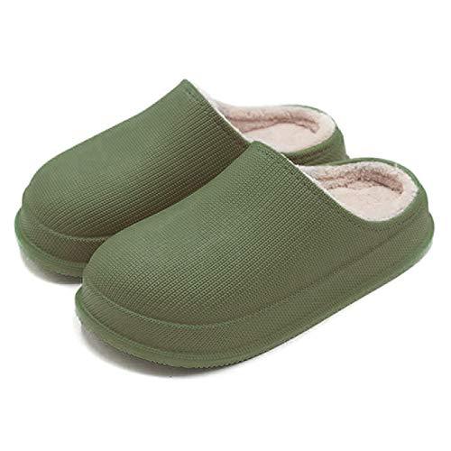 Cómodas Zapatillas para el hogar Antideslizantes Impermeables, Forro de Felpa para Mantener el Calor en Las Zapatillas de Invierno para Hombres y Mujeres