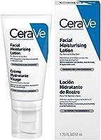 CeraVe Loción Hidratante de Rostro |52ml| Hidratante facial de noche con textura ultraligera | Libre de fragancia