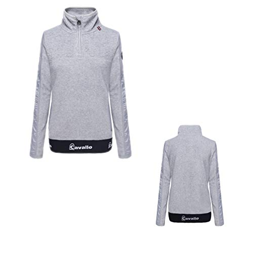 Cavallo Fleece Shirt Reina in Grey Melange Herbst- Winter 2020/2021, Größe:40