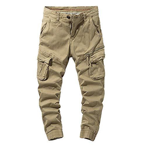 N\P Mono casual para hombres pantalones de hombre con bolsillos múltiples pantalones de hombre